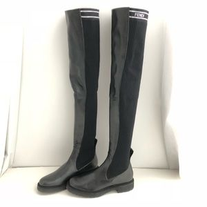 baef7a70 Fendi Leather over the knee Boots NWT